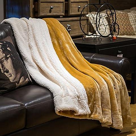 BDUK Colore puro agnello coperte di lana di Faller Lint-Free spesse coperte di lana a doppio ginocchio e coperte pranzo Jazz 200*230 cm Wong