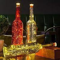 HUAFA luz de botella, (Oro&rojo&plata Botella) Desarrollado por 3 piezas de batería LR44