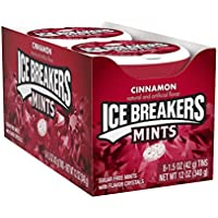 ICE BREAKERS Mints (Cinnamon, Sugar Free, 1.5-Ounce Containers, Pack of 8)