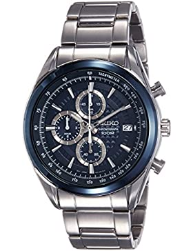 Seiko Herren-Armbanduhr Chronograph Quarz Edelstahl SSB177P1