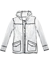Fashion Victim Transparent Rain Jacket Veste Femme transparent
