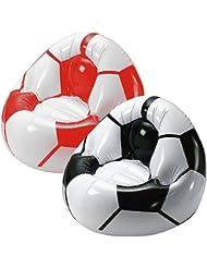 Maxstore fußballsessel «coach avec 2 compartiments pratiques pour boissons Noir/blanc