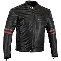 Australian Bikers Gear The Rocker - Chaqueta moto con protecciones homologadas y extraíbles, Talla M