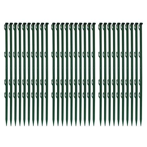 *30 Stück Ellofence Weidezaunpfähle grün aus Plastik, Gesamthöhe 72 cm (Packung à 30 Stück)*