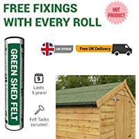 BillyOh Waterproofing Shed Roofing Felt - Green - 10m