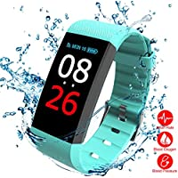 Fitness Armbanduhr,TEZER Fitness Tracker Smartwatch Wasserdicht IP67 Aktivitätstracker Schrittzähler Armbanduhr Schlafanalyse Kalorienzähler Anruf/ SMS Kompatibel Aktivitätstracker Bluetooth mit iPhone und Android