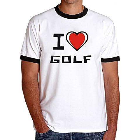 Maglietta Ringer I love Golf