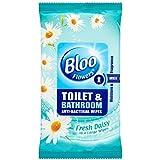 Bloo Fleurs toilettes et salle de bains Anti Bacterial Lingettes frais Daisy (36) - Paquet de 6