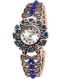 French Loops Women's Analogue Old World Elegance Watch (Blue and Copper, FrenchloopsWW1)