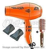 Parlux Advance Light Ionic and Ceramic Hair Dryer - Neon Orange + Free Brush