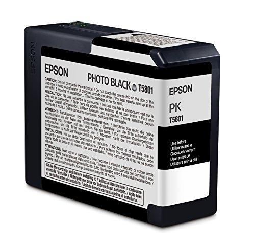Epson T5801 Cartouche d'encre d'origine 1 x photo noire pour Epson stylus pro 3800/3880
