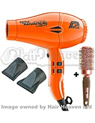 Parlux Advance Light Ionic and Ceramic Hair Dryer - Neon Orange + Free Brush