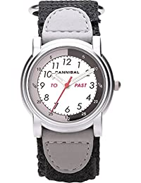 Cannibal Unisex Quartz Watch with White Dial Analogue Display and Black Nylon Strap CT203-03