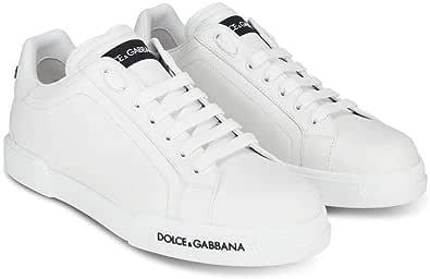 Luxury Fashion | Dolce E Gabbana Uomo CS1774AA33580001 Bianco Pelle Sneakers | Autunno-Inverno 20