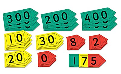 """Inspirational Classrooms 3101503 """"Magnetic Place Value Arrows H T U Educational Toy (Pack of 27) from EdTech"""