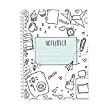 CUPCAKES & KISSES Notizbuch / Ringbuch / liniert / DIN A5 / weiße Spiralbindung / 120 Seiten / für Mädchen und Frauen / Tagebuch / Softcover türkis