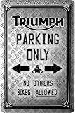Triumph Parking Only motociclo Bike targa in metallo 20 X 30 Retro Targa in 1715