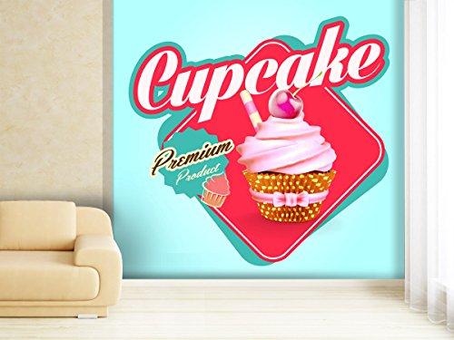 Fototapete Breakfast Sticker - weitere Größen und Materialien wählbar - DEUTSCHE PROFI QUALITÄT von Trendwände - Bäcker Kirsche