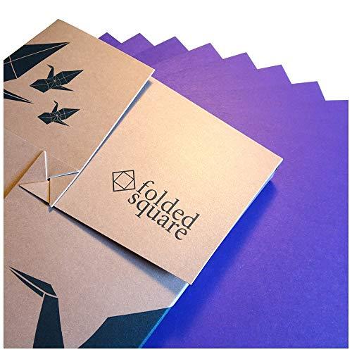 Violett Origamipapier | 100 Blatt, 15cm Quadrat | Pantone 2607 -