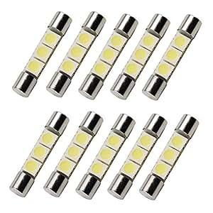 hotsystem 10 stk 31mm 5050 3 smd 12v auto led lampe licht. Black Bedroom Furniture Sets. Home Design Ideas