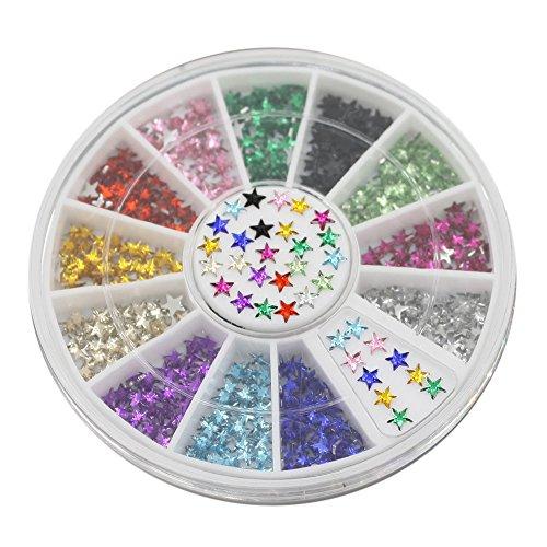 Pentagramme 3D Stickers Décoration DIY beauté Clous Nail Art Conseils de roue
