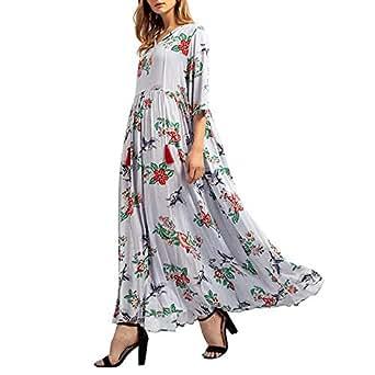 Kleid Mrulic Festliche Kleider Boho Maxikleid Damen jLRA54