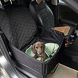 Hundetransportbox Autositzbezug Autoschutzdecke Haengematte Autositz fuer Haustier Hund Katze Pet Vodersitzbezug Schwarz
