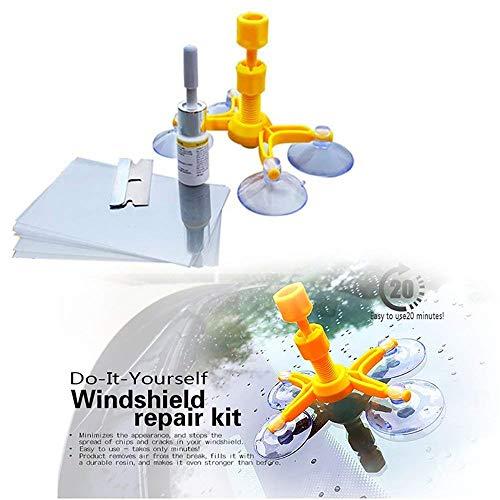 SingMax Fire Windschutzscheiben-Reparatur-Set - Professionelles Windschutzscheiben-Reparatur-Set, Quick Fix DIY Auto Kit Fenster Glas Kratzer Reparatur-Kits für Chip & Risse