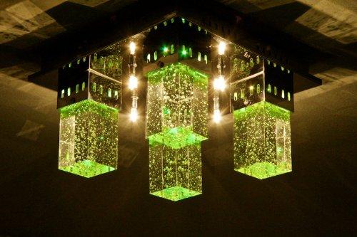 Plafoniera Quadrata Vetro : Led plafoniera quadrata metallo vetro cambio colore