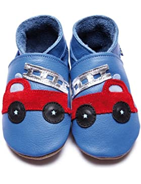 Inch Blue–1367Weiche Babyschuhe Firetruck–Blau Russet