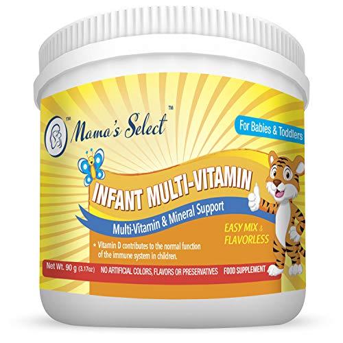 Integratore multi-vitaminico per bambini di Mama's Select - Per la crescita e lo sviluppo e del sistema immunitario infantile - 25 dosi per confezione - Senza coloranti artificiali, aromi o conservanti - Vitamine naturali per bambini