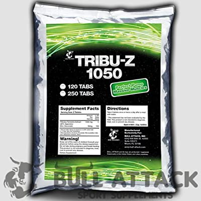 250 x TRIBULUS TERRESTRIS Tablets - 1000mg Serving Anabolic Natural Testosterone Booster from BULL ATTACK