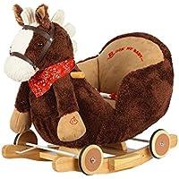 Dunjo® Baby Schaukeltier Pferd mit Sitz, Rollen, Soundmodul, 66283 preisvergleich bei kleinkindspielzeugpreise.eu