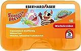 Schmidt Spiele Sorgenfresser 46305 Sorgenfresser Wachsmalkreide in Kunststoffbox, dreiflächig, wasserfest, 83 mm Länge, 10 Stück