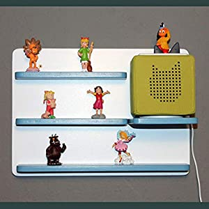 Das große Regal für Toniebox und Figuren Tonie Tonies ® für Kinder – Kinderregal für Audio Musikbox Figuren – weiß…