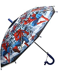 Clasiko Spiderman Print Kids Umbrella; Light Weight; Attractive Design; Durable