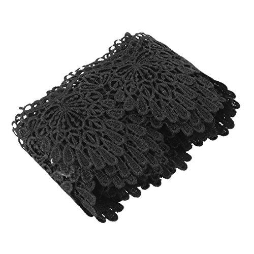 sourcingmap® Familie Polyester DIY Näherei Haarspitze Stirnband Spitze Trim Schwarz 2.2 (Kostüm Oktoberfest Diy)