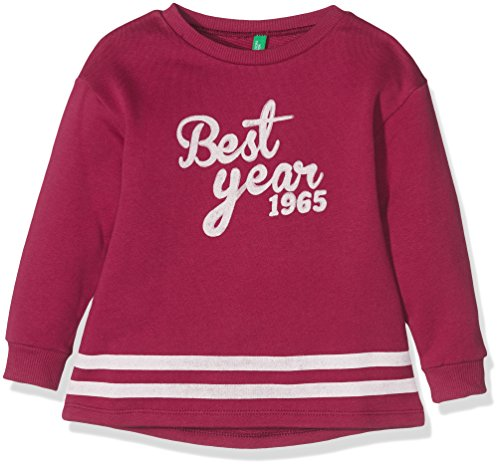 United Colors of Benetton 3J67C12WQ, Felpa Bambina, Rosa (Magenta), 6-7 Anni