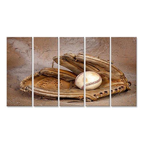 Cuadro Cuadros Impresión sobre lienzo - Formato Grande - Cuadros modernos béisbol