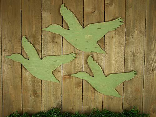 istiWood Holzfliegende Gänse, rustikal, Heimdekoration, Baby-Jagd, Kindergarten, Kunst-Ente, Jagddedekor, Kanadische Gänsehütte, Dekoration -