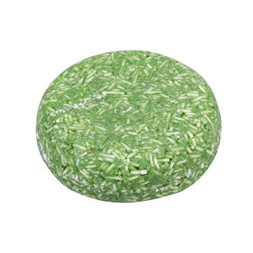 Frcolor 5 pcs Menthe solide Barre de shampooing Barre de savon pour la pousse des cheveux perte de cheveux de nettoyage (Vert)