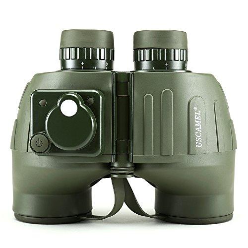 USCAMEL 7x50 Fernglas, Wasserdichte Anti-Fog-Entfernungsmesser Kompass, Militär Jagd, Militär-Grün