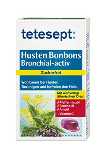tetesept Husten Bonbons Bronchial-activ zuckerfrei - 5er Pack (5 x 75 g) -