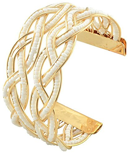 SaySure - 18K Gold Plated Unsealed Bangles Cuff Bracelet