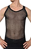 Herren 100% Baumwolle, Mesh- Netz- Einbau String Vest