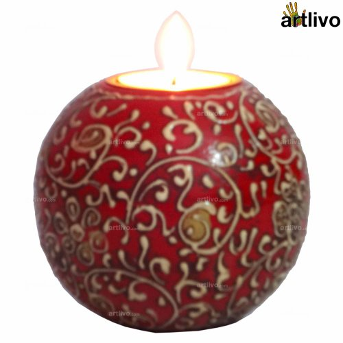 ARTLIVO BOLD RED Orb Candle CH028