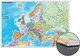 Staaten Europas zum Pinnen auf Wabenplatte
