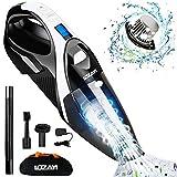 LOZAYI Handstaubsauger 7000PA 2600mAh Nass/Trocken Akku Handstaubsauger mit LED-Licht und Waschbarer Edelstahl Filter, Kabellos Staubsauger für Haus, Auto,...