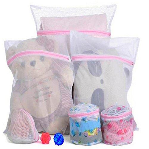 Hangqiao 3xNew Laundry Zipped Washing Mesh Bags Net Socks Underwear Wash Storage Bags by Hangqiao (Mesh Bag Collection)