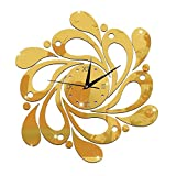 #5: ChezMax DIY Wall Hanging Clock Decal Murals 3D Flower Decorative Wallpaper Sticker for Home Decorations